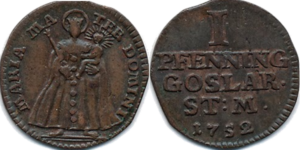 Goslar 1752 1 Pfenning