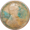 Polyvinyl chloride (PCV) residue on coin's surface.